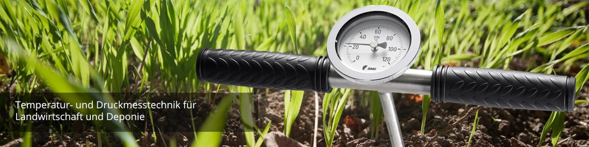 Temperatur- und Druckmesstechnik für Landwirtschaft und Deponie