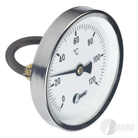 Bimetall-Anlegethermometer mit Feder