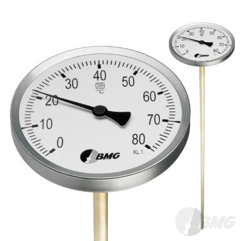 Bodenthermometer mit Messingspitze