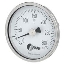 Bimetallthermometer im Bördelgehäuse