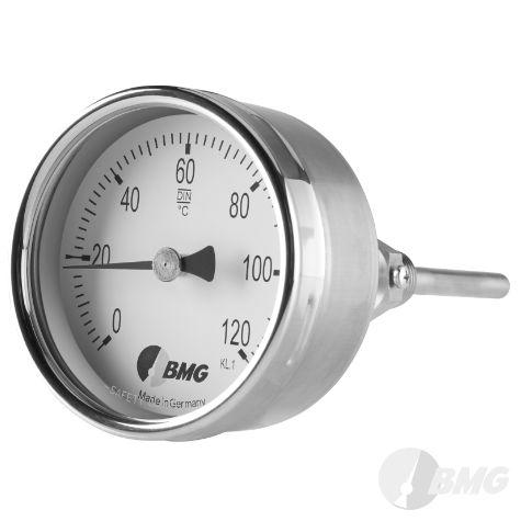 Bimetallthermometer CrNi Bajonettringgehäuse