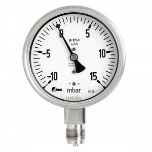 Kapselfedermanometer Ø 100 mm, Edelstahl / Edelstahl