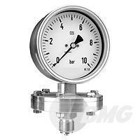 Plattenfedermanometer in Stahl