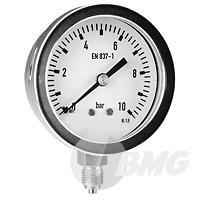 Edelstahl-Manometer Ø 63 mm, Klasse 1,6, robust