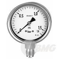 Edelstahlmanometer Ø 100 mm, Ø 160m, Klasse 1