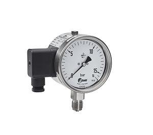 Sicherheitsmanometer mit eingebautem Druckmessumformer