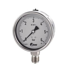 Glycerinmanometer Edelstahl Ø 100 mm, Ø 160, Klasse 1
