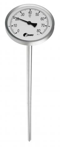 Kompostthermometer, CrNi/CrNi, NG100/0 bis+80°C/1000mm/Spitze