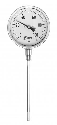 Bimetallthermometer,CrNi/CrNi, NG80, -30 bis+50°C/100mm,Boe,u,SR