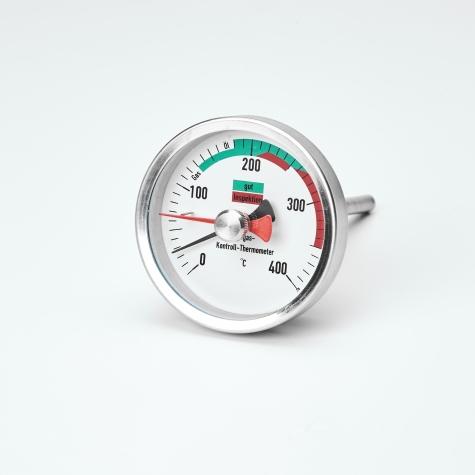 Bimetallthermometer, CrNi/St, NG63, 0 bis+400°C, Schleppzeiger