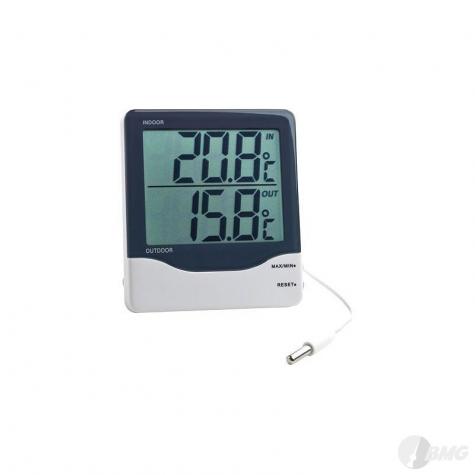 Digitales Thermometer z. Anzeitge v. Innne- u. Aussentemperatur, Messbereich: -50…+70°C
