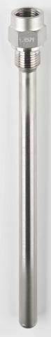 Schutzrohr 43772, Form 5, 1.4571, G1-2/G1-2, L170mm