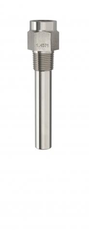 Schutzrohr 43772, Form 7, 1.4571, 1-2NPT/G1-2, L170mm
