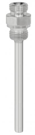 Einschraubschutzrohr Ms/CrNi, DIN 43772 Form 8, mehrteilig, Aussengewinde