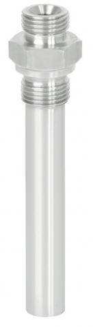Einschraubschutzrohr CrNi, DIN 43772 Form 9, einteilig, Aussengewinde