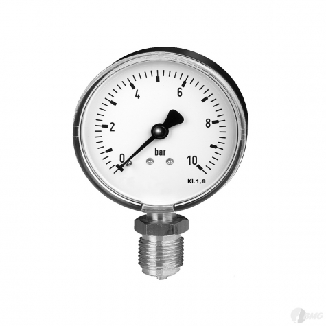 Mano-Vakuummeter Ku/Ms,unten, NG63mm, -1 bis 0 bar,G1-4