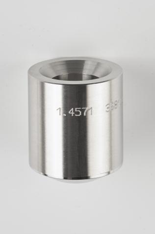 Hochdruck-Schweißmuffe zum Einschweißen für Schutzrohre nach DIN 43772 Form 4