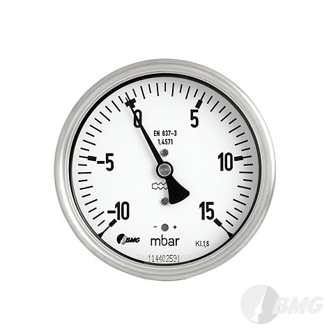 Bimetallthermometer, St/Ms, NG63/ -30 +50°C / 63mm, u