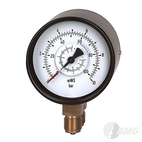 Differenzdruckmanometer St/Ms, NG 100, 0 bis 1 bar