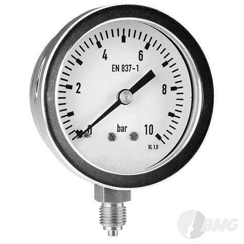Manometer CrNi/CrNi,Bjr, u, NG63mm, 0 bis 10 bar, G1-4