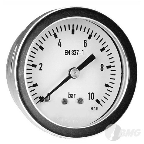 Manometer CrNi/CrNi,Bjr, ram, NG63mm, 0 bis 10 bar, G1-4