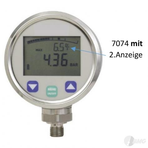 Digitalmanometer 0 bis 400 bar, NG 80, LED, 4stellig, 0,5%, G1-4 fest