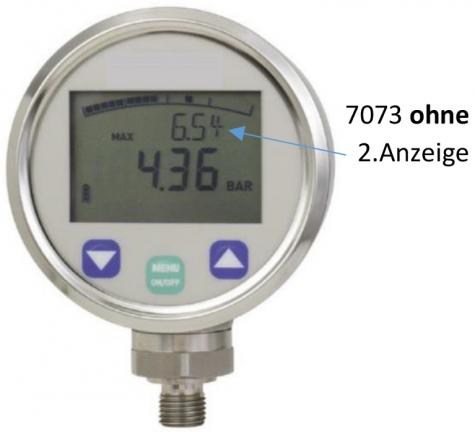 Digitalmanometer m. Bargraphfunktion, Messbereich: 0…600bar. Prozessanschluss-Material: Edelstahl, -Montage: Einschraubgewinde
