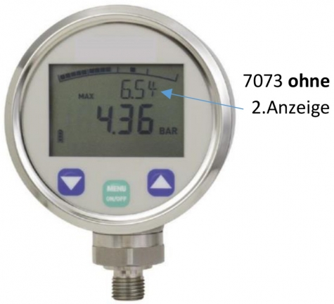 Digitalmanometer 0 bis 5 bar, NG 80, LED, 4stellig, 0,5%, G1-4 fest