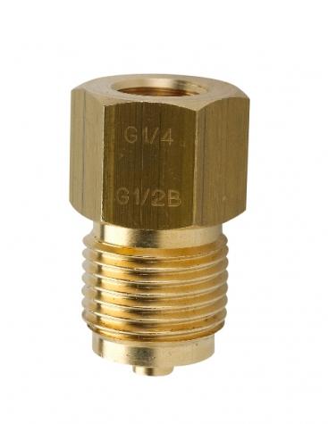 Manometer Uebergangsstueck Ms, Spannmuffe-Zapfen G1-2, G1-4 innen G1-2 aussen