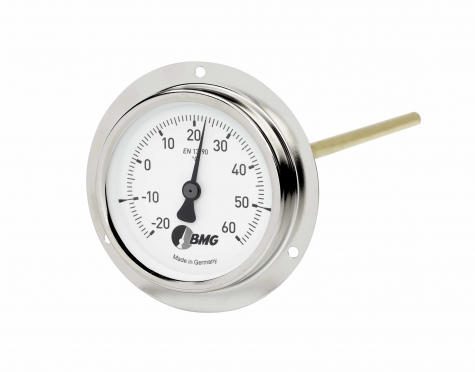Bimetallthermometer, St/Ms, r,NG80/-30+50°C/200mm/HBR