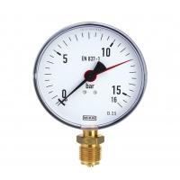 Manometer Ku/Ms, unten, NG 100 mm, 0 bis 16 bar,G1-2