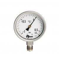 Manometer,Kl.1, CrNi, u, NG 100 mm, -1 +0 bar,G1-2