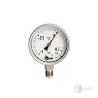 Manometer,Kl.1, CrNi, u, NG 100 mm, -1 +5 bar,G1-2