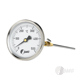 Bimetall-Einsteckthermometer m. Konus, Nenngröße Ø: 80mm, Messbereich: +50…+450°C, Anzeigebereich: 0…+500°C. Prozessanschluss-Material: Edelstahl u. Messing, -Montage: Einsteckkonus