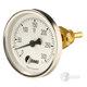 Bimetall-Einschraubthermometer, Standard, Nenngröße Ø: 100mm, Anzeigebereich: 0…+200°C. Prozessanschluss-Material: Messing, -Montage: Einschraubschutzrohr