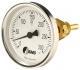 Bimetall-Einschraubthermometer, Standard, Nenngröße Ø: 63mm, Messbereich: 10…+110°C, Anzeigebereich: 0…+120°C. Prozessanschluss-Material: Messing, -Montage: Einschraubschutzrohr